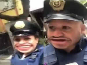 Trolea a policía que lo infracciona y se vuelve viral