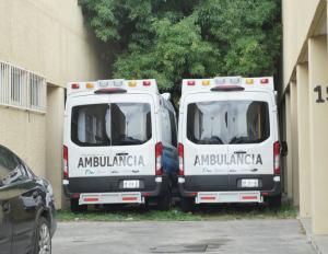 Tiene Hospital General 3 ambulancias 'guardadas'