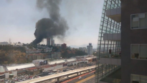 VIDEO: Reportan incendio cerca de Centro Santa Fe