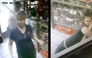 Asaltante noquea con bate a trabajadora de tienda deportiva (VIDEO)