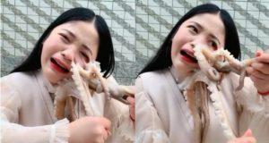 Joven se come un pulpo vivo y recibe doloroso castigo (VIDEO)
