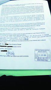 Primera denuncia  formal contra médico del IMSS