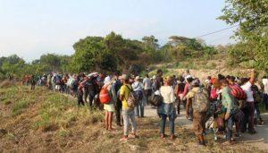 Caravana de 1,200 migrantes ingresa a México