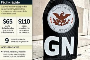 Alertan por venta de insignias de la 'GN' por Internet