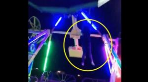 VIDEO: Mujer cae de juego mecánico en movimiento en Ciudad Juárez