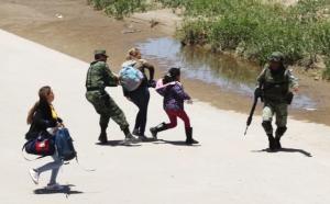 Guardia Nacional impide cruce de migrantes en México