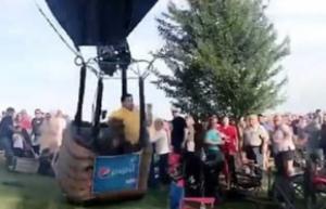 VIDEO: Globo aerostático se estrella entre los asistentes de un festival