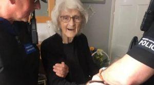 Arrestan a abuelita de 93 años; quería ser rebelde por una vez