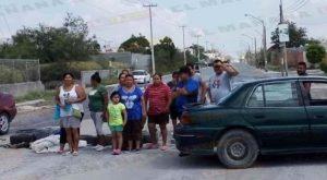 Bloquean calles en Reynosa por falta de agua