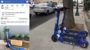 Llegan los scooters al centro de Laredo... y app localiza uno en NLD
