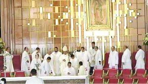 Participan en peregrinación a la Basílica de Guadalupe