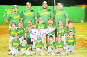 La Liga Oriente de la categoría 3-4 años estará disputando el Nacional de beisbol en tierras regias