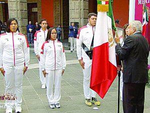 Abandera López Obrador a delegación azteca  que participará en los Juegos Panamericanos