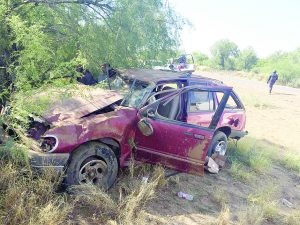 Carreterazo; lesionados padre e hija