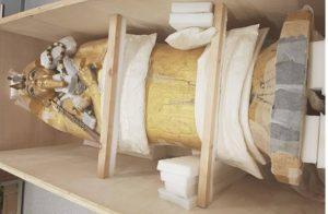 Restauran por primera vez el ataúd del faraón Tutankamón