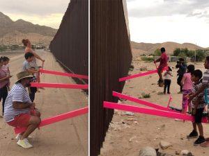 Arman 'sube y baja' en la frontera para unir a México y EU