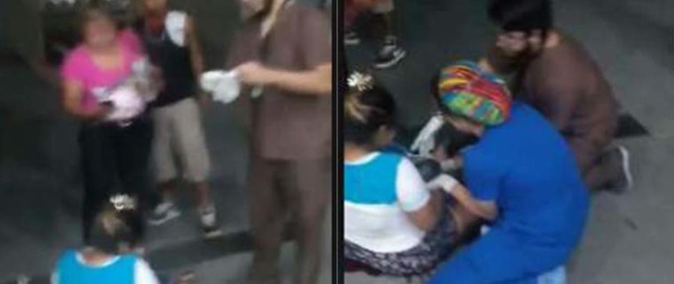 VIDEO: Mujer da a luz afuera de hospital de Nuevo León