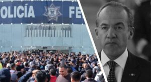 Señalan a Calderón de estar detrás de protestas de la PF