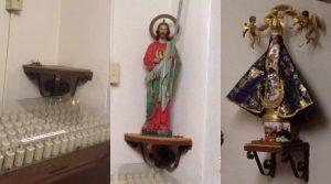 Roban imágenes religiosas de iglesia en Laredo
