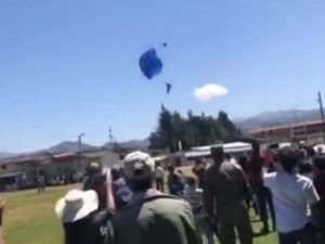 Captan la muerte de paracaidista; falló su mochila