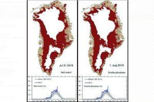 Calor está acabando con hielo en Groenlandia