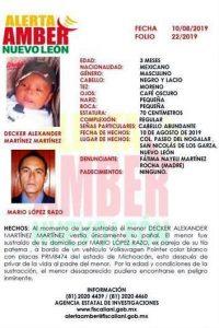 Asesina a hombre y secuestra a bebé en San Nicolás