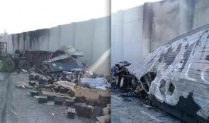 Se incendian tráileres y causan caos en vía a Laredo