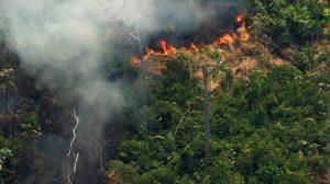 Fuerzas militares en Brasil combaten el incendio en la Amazonía