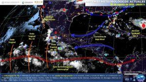 Pronostican lluvia en 26 estados del país