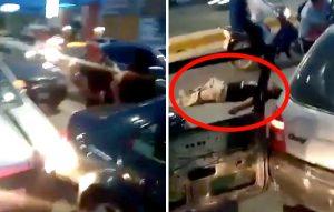 Jóvenes lo dejan inconsciente y pasan coche sobre su cintura