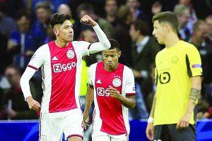 El mediocampista Edson Álvarez se estrena con tanto en Champions League ante el Lille