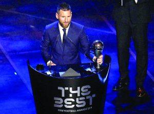 Lionel Messi es elegido como el mejor futbolista del año