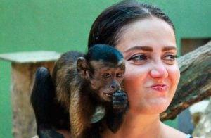 Mono manosea a Celia Lora en santuario