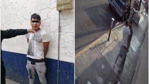 Detienen a ladrón que apuñaló a joven pora robarle celular; llora desconsolado