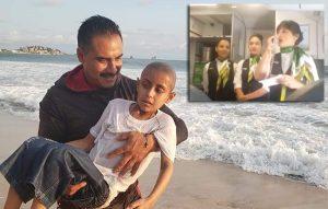 Tras cumplir su sueño de conocer el mar, Jonathan muere de cáncer