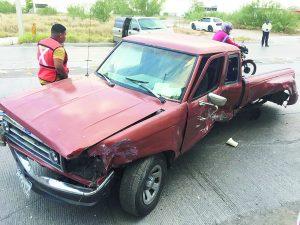 Error al volante lo deja lesionado