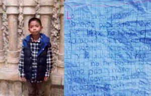 'Lo lamento, mami, perdí el cuaderno, no me busquen', Niño deja carta y desaparece