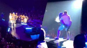 Lady Gaga sufre aparatosa caída en brazos de un fan (VIDEO)