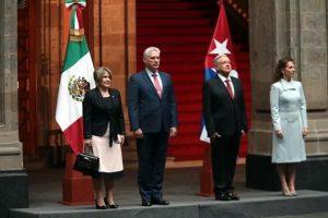 Recibe AMLO a Presidente de Cuba