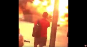 Explot4 camioneta en enfrentamiento en Culiacán por detención del hijo del Chapo