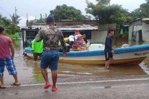 Más de mil 850 familias incomunicadas por inundaciones en Aldama, Tamaulipas