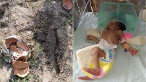 Encuentran a bebé que fue enterrada viva; su estado de salud es grave