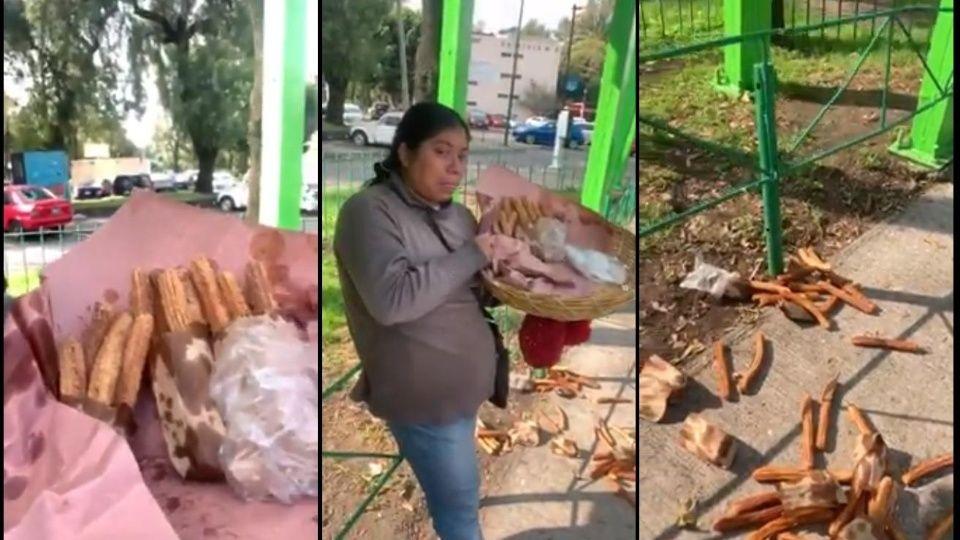 Vendedora de churros llora por abuso de la policía en CDMX