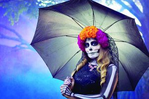 Capturan a La Catrina en el Día de Muertos