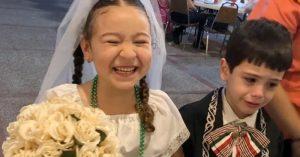 Niño tamaulipeco causa sensación en redes: llora desconsolado en boda de kermés