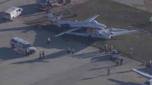 Chocan dos aviones en Aeropuerto Internacional de San Antonio