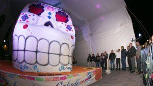 La calavera de azúcar más grande del mundo está en Querétaro