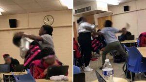 Maestra se agarra a golpes con una de sus alumnas