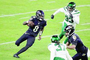Lamar Jackson lanza cinco pases de anotación y Baltimore amarra corona de la división  Norte