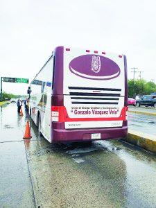 Da autobús golpe por alcance
